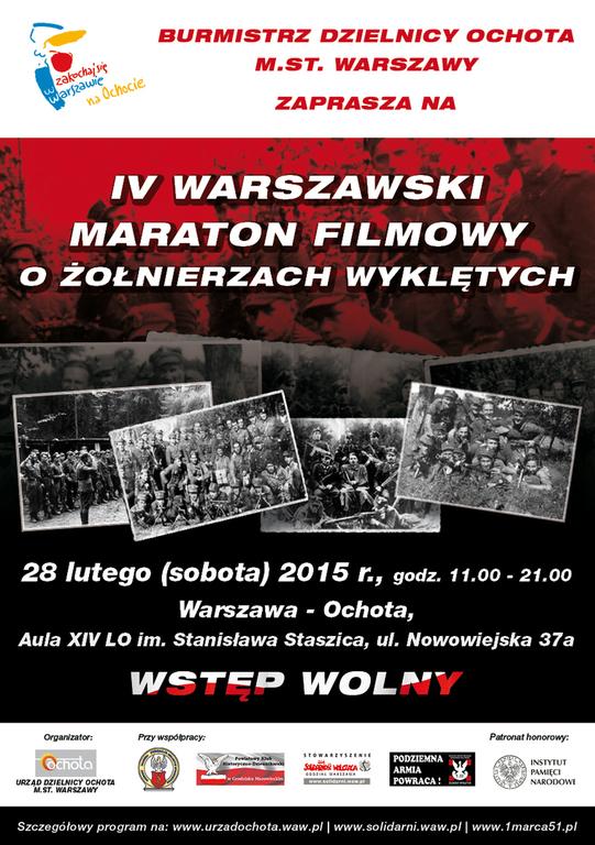 Obchody Narodowego Dnia Pamięci Żołnierzy Wyklętych Warszawa i okolice