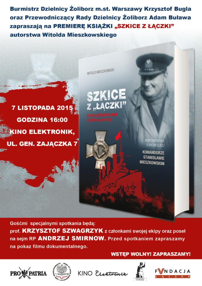 """Premiera książki """"Szkice z Łączki. Z krążownikiem Aurora w tle"""""""