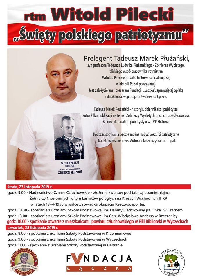 """LEKCJE HISTORII """" ROTMISTRZ WITOLD PILECKI – """"Święty polskiego patriotyzmu"""""""