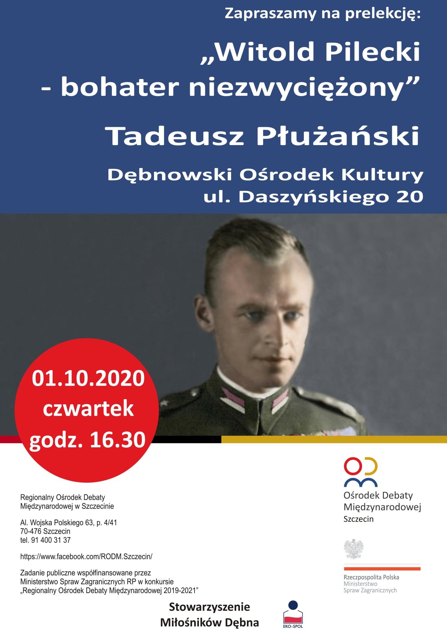 """Prelekcja na temat """"Witold Pilecki – bohater niezwyciężony"""""""