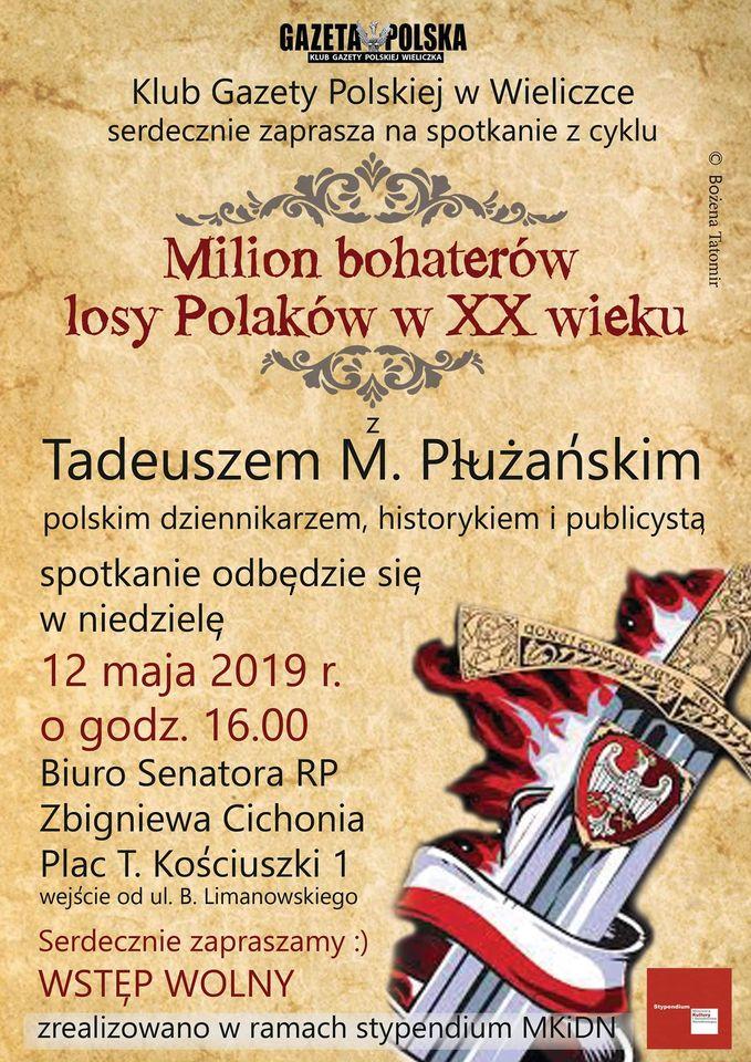 O polskiej historii w Wieliczce. Spotkanie z Prezesem Fundacji Łączka zorganizował Klub Gazety Polskiej w Wieliczce